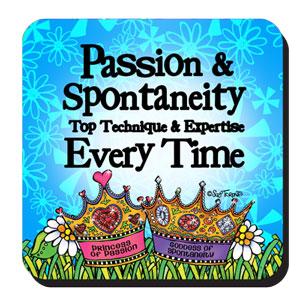 passion and spontaneity coaster