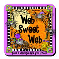 Web Sweet Web – home is where you park your broom (Halloween) – Coaster