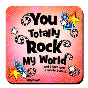 you totally rock my world coaster