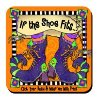If the Shoe fits… click your heels & wear 'em with pride (Halloween) – Coaster