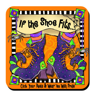 If the shoe fits Halloween coaster