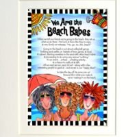 "We Are the Beach Babes – 8 x 10 Matted ""Gifty"" Art Print"