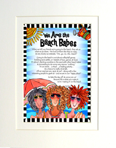 Beach Babes art print matted