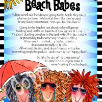 """We Are the Beach Babes – 8 x 10 Matted """"Gifty"""" Art Print"""