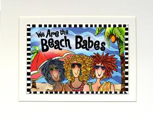 Beach Babes art print matted