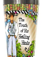 The Touch of His Healing Hands (male) – Stainless Steel Tumbler