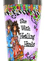 She Who has Healing Hands (female) – Stainless Steel Tumbler