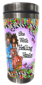 Healing Hand Stainless Steel tumbler - FRONT
