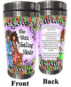 Healing Hand Stainless Steel tumbler
