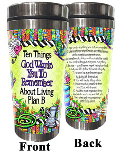 10 things God wants us to remember about Plan B - stainless steel tumbler