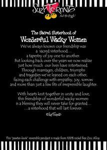 Sacred Sisterhood - Necklace story insert