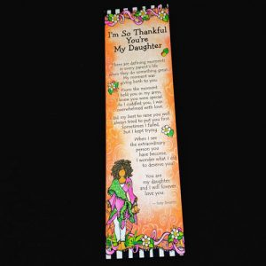 Thankful daughter - Premium Bookmark