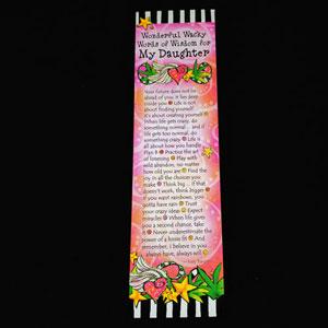 WORDS Daughter - Premium Bookmark