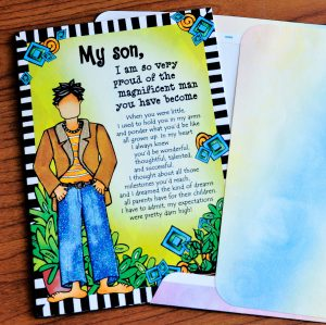My Son, -Fathers Day card outside