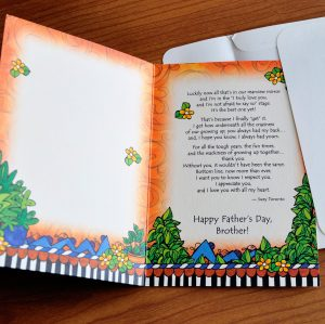 Father's Day - Brother --Greeting card inside