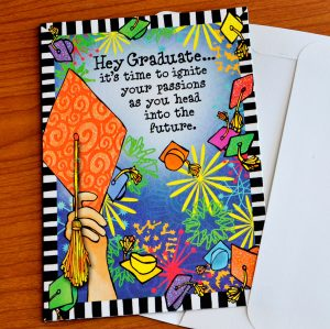 Hey Graduate greeting card - outside