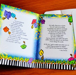 Hey Graduate greeting card - inside