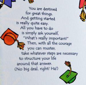 Hey Graduate greeting card - Story A