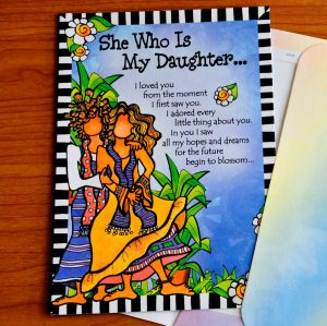 she who is my daughter greeting card - outside
