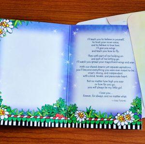 My Littel Girl greeting Card - inside