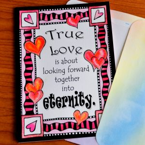 true love greeting card - outside