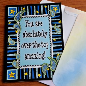 You are amazing greeting card - outside