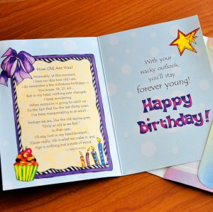 Age Is Nothing but a state of Mind (Birthday) – Greeting Card