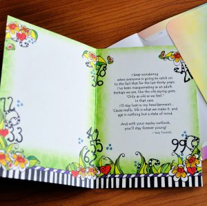 Age is Nothing - Birthday greeting card - inside