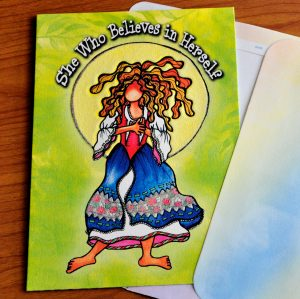 She who believes in herself greeting card - outside