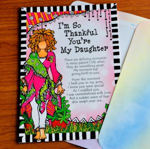 Thankful you're my daughter greeting card - outside