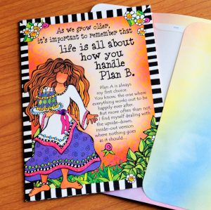 As we grow older, it's important to remember that life is all about how you handle Plan B (Birthday) – Greeting Card