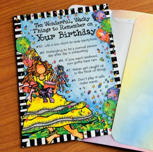 Top ten things to remember on your birthday greeting card outside