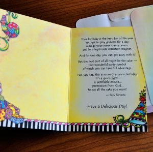 On your birthday… You CAN have your cake and eat it, too! (Birthday) – Greeting Card
