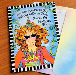 You're the Birthday Girl - greeting card outside