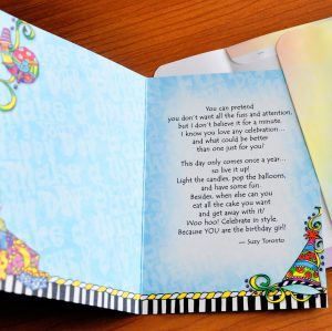 You're the Birthday Girl - greeting card inside