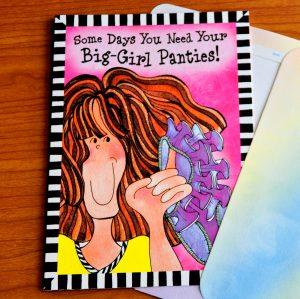 big girl panties greeting card -outside