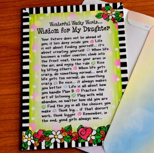 wisdom for my daughter greeting card - outside