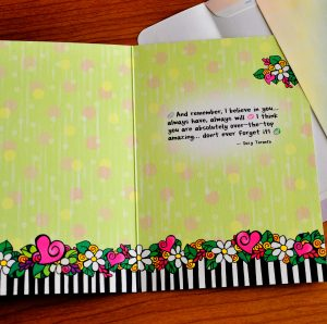 wisdom for my daughter greeting card - inside