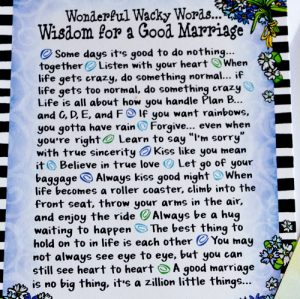 Good Marriage greeting card - Story