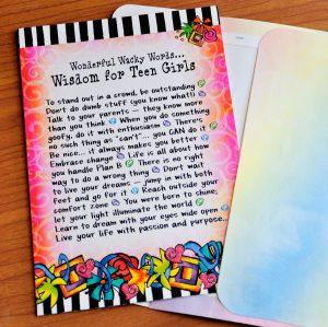 Wisdom for Teen Girls - outside