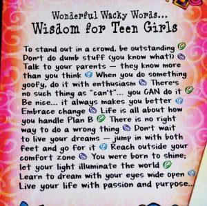 Wisdom for Teen Girls - story
