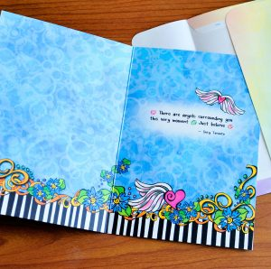 Surrounded by angels greeting card - inside
