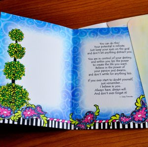Dreams greeting card - inside