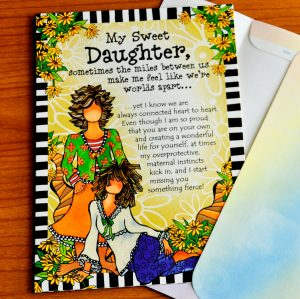 my sweet daughter greeting card - outside