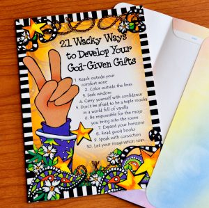 Ways to Develop your talents greeting card - outside