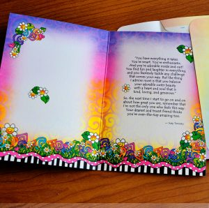 My Sweet Granddaughter greeting card - inside