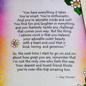 My Sweet Granddaughter greeting card - Story