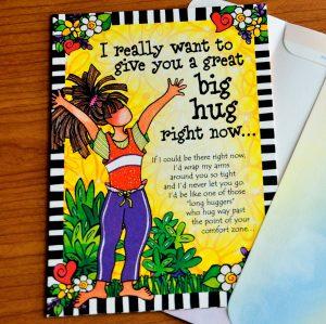 Big Hug greeting card - outside