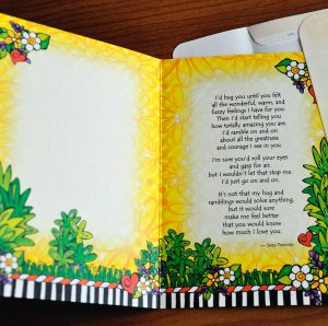 Big Hug greeting card - inside