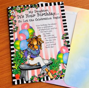 My Daughter birthday greeting card outside